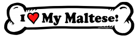 I love my Maltese Dog Bone Sticker Free Shipping